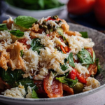 Simon Rimmer crab panzanella with plum tomatoes and ciabatta bread recipe on Sunday Brunch