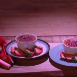 Ruby Bhogal rhubarb and cardamom creme brulee recipe on Steph's Packed Lunch
