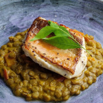 Simon Rimmer Gurnard with coconut dahl recipe on Sunday Brunch