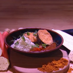 John Whaite aubergine katsu curry recipe on Steph's Packed Lunch