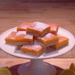 John Whaite zesty lemon bars recipe on Steph's Packed Lunch