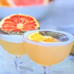 Rachel Khoo grapefruit and orange gin sour cocktail recipe