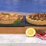 Phil Vickery quiche masterclass with roasted cauliflower, bacon and onions recipe on This Morning