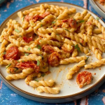 John Gregory-Smith baked feta pasta with cherry tomatoes recipe on Sunday Brunch