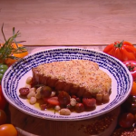 Simon Rimmer rarebit pork chops with tomato salad recipe on Steph's Packed Lunch