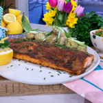 Phil Vickery Good Friday spiced salmon with a Russian Salad and new potatoes recipe on This Morning