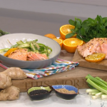 Tom Rhodes salmon with asparagus recipe on This Morning