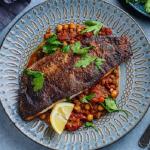 Simon Rimmer Moroccan Spiced Sea Bass recipe on Sunday Brunch