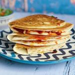 John Gregory-Smith harissa and halloumi wraps recipe Sunday Brunch
