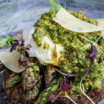 Simon Rimmer Charred Asparagus With Hazelnut Pesto recipe on Sunday Brunch