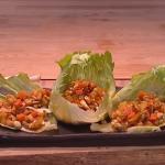 Kwoklyn Wan chicken yuk sung in iceberg lettuce recipe on Steph's Packed Lunch