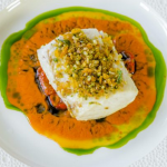 Lisa Goodwin-Allen Baked Hake with Romantic Tomatoes, Lemon and Basil recipe on James Martin's Saturday Morning
