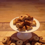 John Whaite biscuit blondies recipe on Steph's Packed Lunch