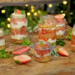Ainsley Harriott strawberry hobnob cheesecake jars recipe on Ainsley's Food We Love