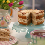 John Torode and Lisa Faulkner coffee and walnut cake recipe on John and Lisa Weekend Kitchen