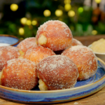 Candice Brown toffee apple doughnuts recipe on Ainsley's Food We Love