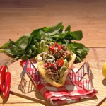 Freddy Forster steak flatbread with salsa verde recipe on Steph's Packed Lunch