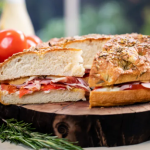 John Torode focaccia sandwich with rosemary recipe on John and Lisa's Weekend Kitchen