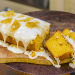James Martin honey drizzle cake with icing sugar and honeycomb recipe on James Martin's Saturday Morning