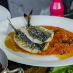 James Martin grilled Joey mackerel with tomato sauce recipe on James Martin's Saturday Morning
