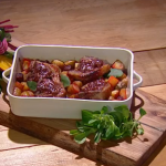 John Whaite rhubarb with ginger and jam lamb chops recipe on Steph's Packed Lunch