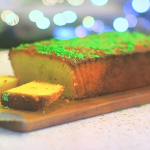 Kate Humble lemon and polenta cake with pine needles recipe on Escape To The Farm
