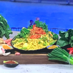 John Torode chicken satay noodles with peanut butter recipe on This Morning