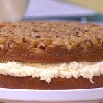 Simon Rimmer caramelised Brazil nut cake recipe on Sunday Brunch