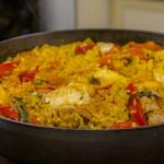 James Martin monkfish and chicken paella recipe on James Martin's Saturday Morning
