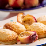 John Torode and Lisa Faulkner peaches and cream pies recipe on John and Lisa Weekend Kitchen