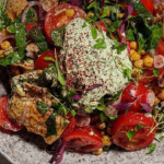 Simon Rimmer tomato with chickpea and pita bread salad recipe on Sunday Brunch