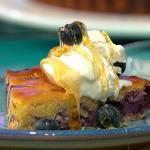 Simon Rimmer lemon and blueberry polenta cake recipe on Sunday Brunch