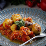 Simon Rimmer Ricotta And Pesto Gnocchi With Fresh Tomato Sauce recipe on Sunday Brunch