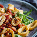 Simon Rimmer squid and bacon salad recipe on Sunday Brunch