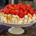 James Martin Strawberry Pavlova recipe on James Martin's Saturday Morning