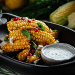 Simon Rimmer Sweetcorn 'wings' With Ranch Dressing And Feta Cheese recipe on Sunday Brunch