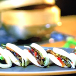 Gok Wan bao buns (Chinese sandwich) with vegetable filling recipe