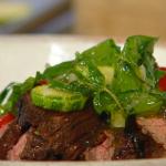 John Torode and Lisa Faulkner beef rendang Malaysian stew with roti flatbread recipe on John and Lisa's Weekend Kitchen