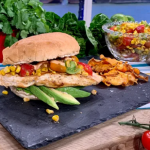 Joe Wicks Mexican chicken burger with corn salsa and chipotle mayo recipe for the ultimate family feast on This Morning