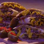 John Whaite cheeseburger quesadillas recipe on Steph's Packed Lunch