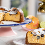John Torode baked blueberry cheesecake recipe on John and Lisa's Weekend Kitchen