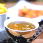 Gok Wan chip shop curry sauce with panko prawns recipe on Gok Wan's Easy Asian