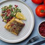 Simon Rimmer Hake With Hazelnut And Feta Tabbouleh recipe on Sunday Brunch