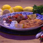 Freddy Forster lamb souvlaki skewers recipe on Steph's Packed Lunch