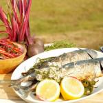 John Torode BBQ mackerel with sea spaghetti and beetroot salad recipe on John and Lisa Weekend Kitchen