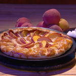 John Whaite rustic peach tart recipe on Steph's Packed Lunch