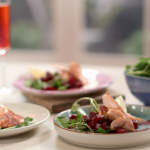 John Torode seared salmon with beetroot, ginger and mint recipe on John Lisa's Weekend Kitchen