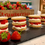 Juliet Sear shortbread stacks with strawberries and cream recipe on This Morning
