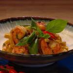 John Whaite drunken Thai tagliatelle recipe on Steph's Packed Lunch