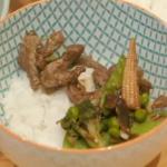 Matt Hulme teriyaki beef stir fry recipe on Eat Well for Less?